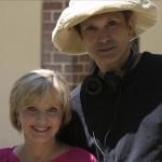 "Director, Nat Christian with Florence Henderson on the set of ""FOR HEAVEN'S SAKE"""