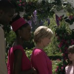 "(L-R) Nathan Lindsey, Yaani King, Florence Henderson and Stephanie Patton in ""FOR HEAVEN'S SAKE"""