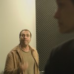Taylor Negron as Niles talking to Black