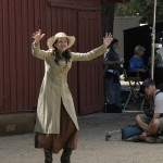 "Valerie Hurt as ""Frontier Woman"" in ""FOR HEAVEN'S SAKE"""